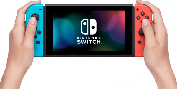 Игровая консоль Nintendo Switch (неоновый красный / неоновый синий)