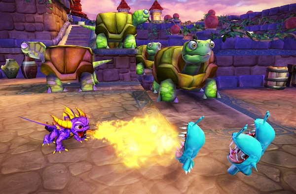 Skylanders. Набор из трех фигурок: Drobot, Flameslinger, Stump Smash