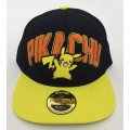 Бейсболка Pokemon. Pikachu Black Snapback With Yellow Bill