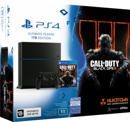 Комплект Sony PlayStation 4 (1 TB) Black + игра Call of Duty: Black Ops III