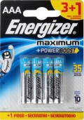 Элемент питания Energizer Maximum LR03/E92 AAA FSB (4 шт.)