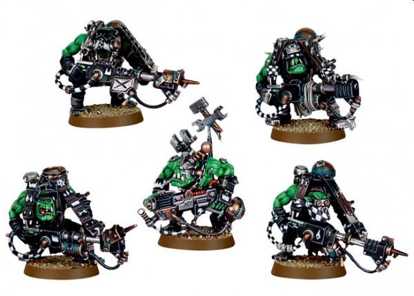 Набор миниатюр Warhammer 40,000 Ork lootas and burnas