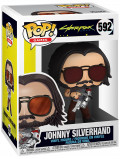 Фигурка Funko POP Games: Cyberpunk 2077 – Johnny Silverhand With Gun (9,5 см)