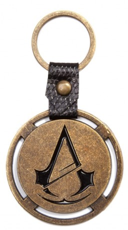 Брелок Assassin's Creed Unity. Metal Keyring with PU Snap
