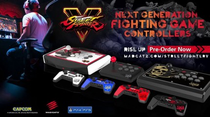 Аркадный пад Mad Catz Street Fighter V FightPad Pro Ryu для PS4 (белый)