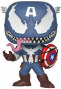 Фигурка Funko POP Marvel: Venom – Venomized Captain America Bobble-Head (9,5 см)