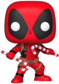 Фигурка Funko POP Marvel: Holiday – Deadpool With Candy Canes Bobble-Head (9,5 см)