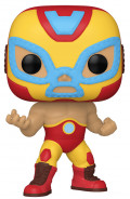 Фигурка Funko POP Marvel: Lucha Libre Edition – El Heroe Invicto Iron Man Bobble-Head (9,5 см)