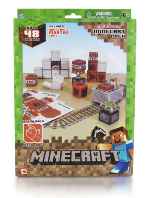 Minecraft Papercraft. Overworld Minecraft Pack (48 деталей)