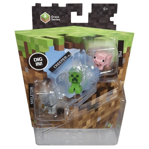 Набор фигурок Minecraft. Pig, Creeper & Skeleton. 3 в 1