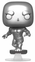 Фигурка Funko POP: Fantastic Four – Silver Surfer Metallic Bobble-Head (9,5 см)