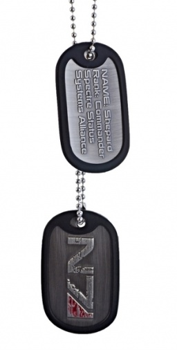 Жетон Mass Effect 3. N7 Logo Dog Tag