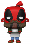 Фигурка Funko POP Marvel: Deadpool 30th – Barista Deadpool Bobble-Head (9,5 см)