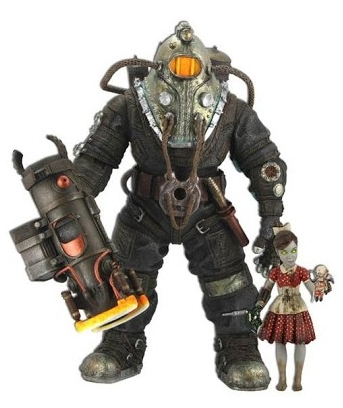 Фигурка Bioshock 2 Exclusive Gift Pack Sinclair & Little Sister Red Dress, Bunny Splicer Mask (18 см)