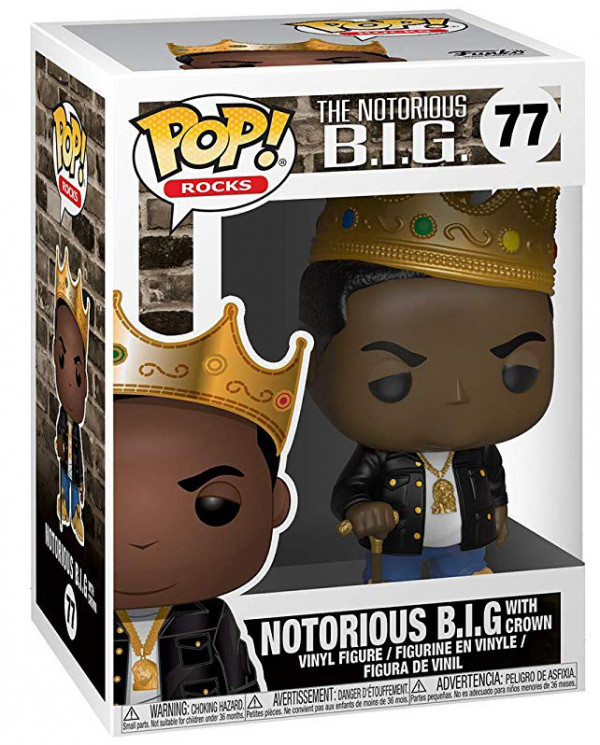 Фигурка Funko POP Rocks: The Notorious B.I.G. – Notorious B.I.G. With Crown (9,5 см)