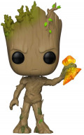 Фигурка Funko POP Marvel: Avengers Infinity War – Groot With Stormbreaker Bobble-Head (9,5 см)