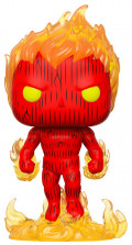 Фигурка Funko POP: Fantastic Four – Human Torch Bobble-Head (9,5 см)