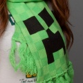 Вязаный шарф Minecraft. Creeper Scarf