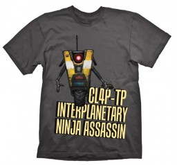 Футболка Borderlands. Claptrap Assassin (серая) (M)
