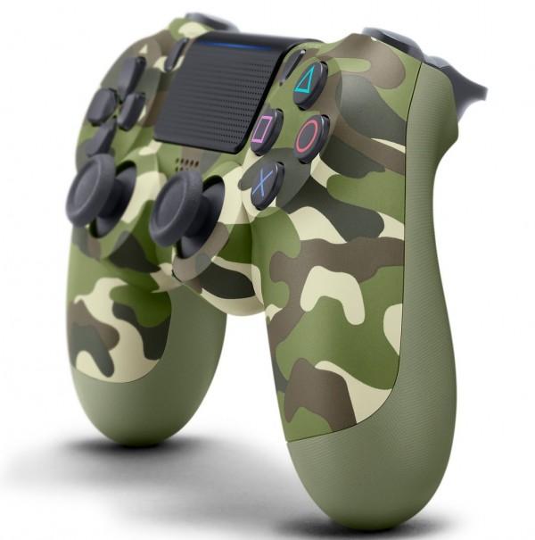 Геймпад DualShock 4 для PS4 беспроводной Green Cammo (камуфляжный) (CUH-ZCT2/E16R)