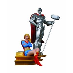 Фигурка Superman Family Multi-Part Statue Part 2 Supergirl & Steel (24 см)